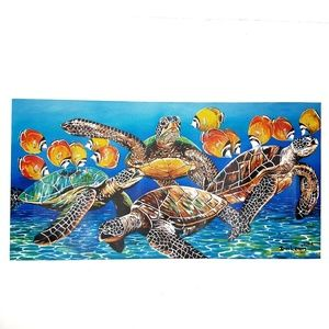 Sea Turtles Wall Art Canvas by Dion Lewis
